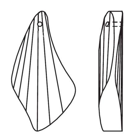 Facettierte Glaskristalle Swarovski Bird Wings 40 mm
