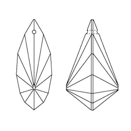 Facettierte Glaskristalle Swarovski Vibe 38 mm