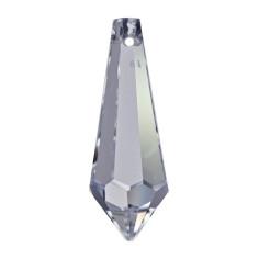 Facettierte Glaskristalle Swarovski Eiszapfen bleifrei 63 mm