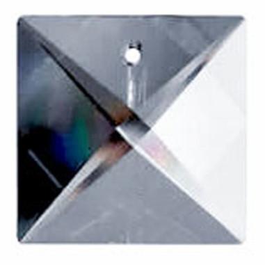 Facettierte Glaskristalle Swarovski Pyramide bleifrei 22 x 22 mm