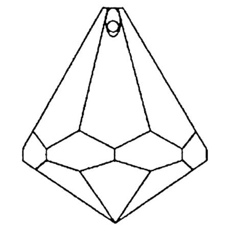 Facettierte Glaskristalle Swarovski Kegel