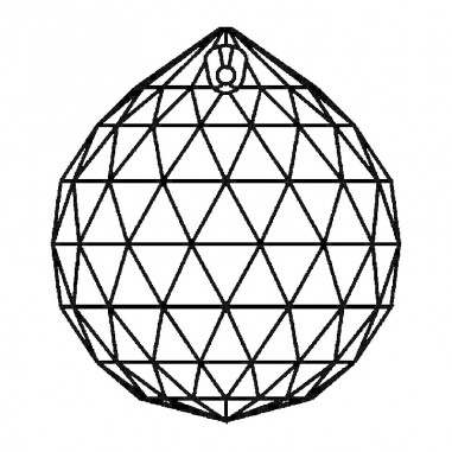 Facettierte Glaskristalle Swarovski Kugel