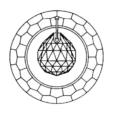 Glaskristall Spehre 50 mm bleifrei