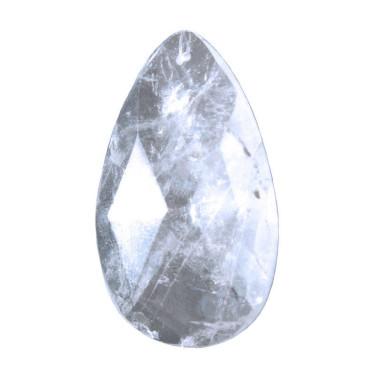 Bergkristall Tropfen 45 mm flach