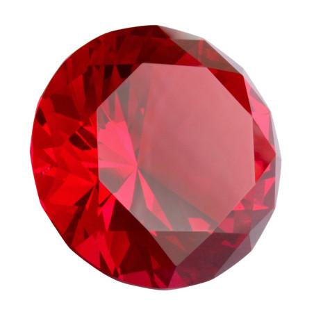 Kristallglasdiamant 56 Facetten ruby A