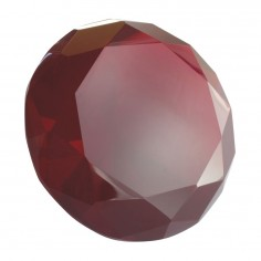 Glasdiamant rot B
