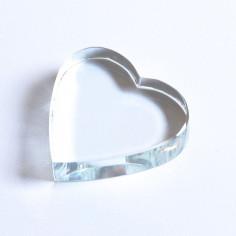 Kristallglasherz klar 40 x 40 x 9 mm