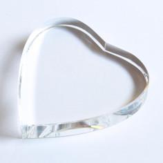 Kristallglasherz klar 80 x 80 x 15 mm