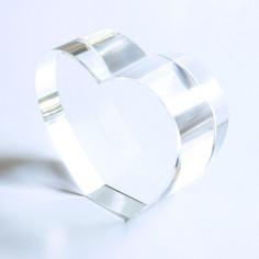 Kristallglasherz klar stehend 80 x 65 x 30 mm