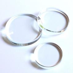 Kristallglasscheibe rund klar