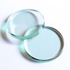 Kristallglasscheibe rund lindgrün 60 mm