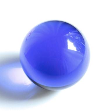 Kristallglaskugel dunkelblau