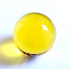Kristallglaskugel gelb