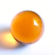 Kristallglaskugel orange