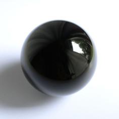 Kristallglaskugel schwarz opak