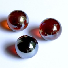 Glasmurmeln amber irisierend 25mm