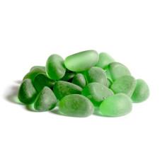 Glaskiesel Wedges 20-24mm grün gefrostet