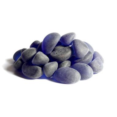Glaskiesel Wedges 20-24mm blau gefrostet