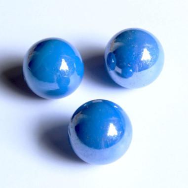 Glasmurmeln blau opak 25mm