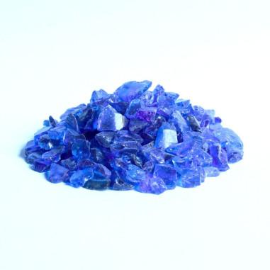 Glaskies 5-10mm dunkelblau
