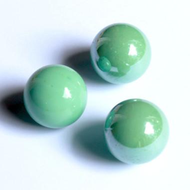 Glasmurmeln grün opak 25mm