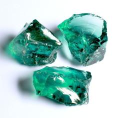 Glasbrocken grün ca. 40-80 mm