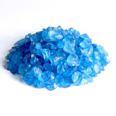 Glassteine 4 - 10 mm blau