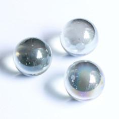 Glasmurmeln klar irisierend 25mm