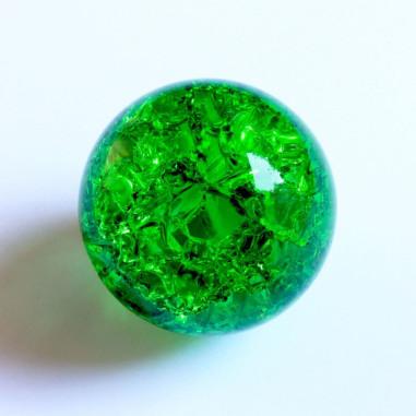 Kristallglaskugel crashed grün