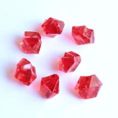 Acrylsteine rot 10 - 14 mm