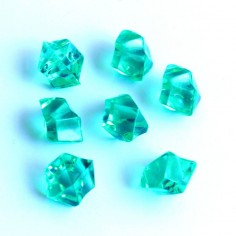 Acrylsteine smaragdgrün 10 - 14 mm