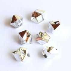 Acrylsteine silber 10 - 14 mm