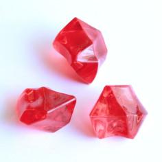 Acrylsteine rot 16 - 24 mm