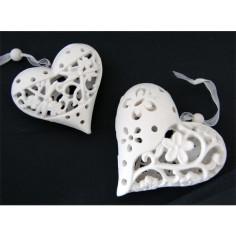 Keramik Herz weiss