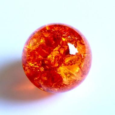 Kristallglaskugel crashed orange