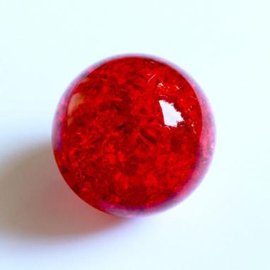 Kristallglaskugel crashed rot