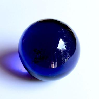 Glaskugel dunkelblau